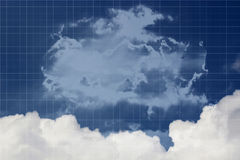 Sky Manipulation 1 Blue Color Backgrounds on white square grids. Royalty Free Stock Photos