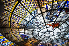 Sky map stained glass. Of the Erawan museum, Samutprakan, Thailand Stock Photography