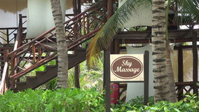 Sky Massage Building - Zoom Out stock video