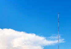 Sky. Mast in blue sky with white soft cloud Royalty Free Stock Photo