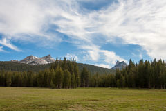 Sky and Meadow. Wispy clouds over Toualome Meadow, Yosemite National Park Stock Photography
