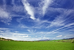 Sky and meadows Royalty Free Stock Photo