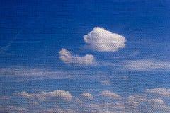 Sky med textur av burlap arkivbild