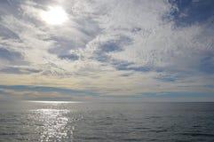 Sky Meets Water. In Santa Monica Beach Royalty Free Stock Photo