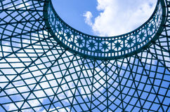 Sky and metal grid in a park in Potsdam Royalty Free Stock Images