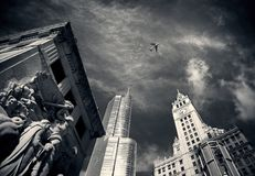 Sky, Metropolis, Landmark, Black And White Stock Photography