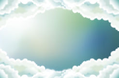 The sky in the middle clouds Stock Photography