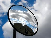 Sky in the mirror royalty free stock photos