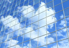 Sky mirroring in building Stock Image