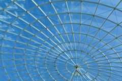 Sky & Modern Architecture Spiral Round Window Royalty Free Stock Image