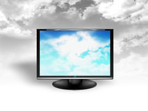 Sky in the monitor Stock Images