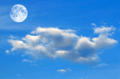 Sky and Moon Stock Photo