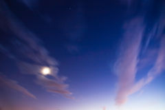 Sky and moon Stock Image