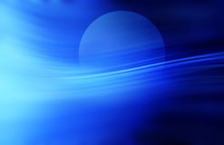 Sky Moon Rise Background. A moon rising through a blue fog Stock Image