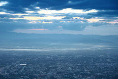 Sky morning and mist over city Chiang Mai in Thailand Stock Images