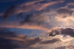 Sky morning sunrise. At sea songkhla Stock Images