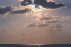 Sky morning sunrise. At sea songkhla Royalty Free Stock Photos