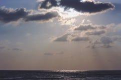 Sky morning sunrise. At sea songkhla Stock Photo