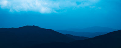 sky and mountain Royalty Free Stock Images