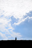 Sky and Mountain. A man looking on the sky Royalty Free Stock Photography