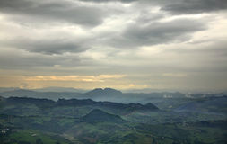 Sky and mountain in San Marino Stock Image