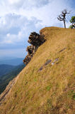 Sky and Mountain. Mountain view in Thailand in the Chiangmai. The Mon-Jong  mountain Stock Photos