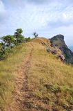 Sky and Mountain. Mountain view in Thailand in the Chiangmai. The Mon-Jong  mountain Stock Image
