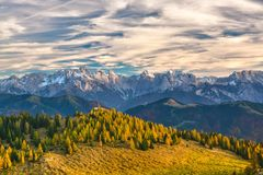 Sky, Mountainous Landforms, Nature, Mountain Stock Photo