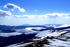 Sky&Mountains. Here are some Romanian Mountains full of snow. Here is the top of them Royalty Free Stock Photography