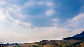 Sky and mountains. The blue sky and mountains Royalty Free Stock Image