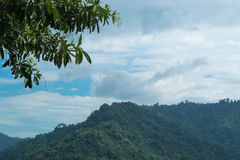 Sky with mountains. Sky with mountains at Nakornnayok province in Thailand Royalty Free Stock Image