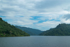 Sky with mountains. Sky with mountains at Nakornnayok province in Thailand Royalty Free Stock Images