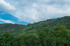 Sky with mountains. Sky with mountains at Nakornnayok province in Thailand Stock Photos