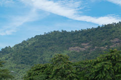 Sky with mountains. Sky with mountains at Nakornnayok province in Thailand Royalty Free Stock Photos