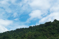 Sky with mountains. Sky with mountains at Nakornnayok province in Thailand Stock Image