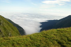 Sky and mountains in Romania. Nice sky in Fagaras national park in Romania Stock Photography
