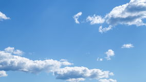 Sky and moving clouds stock footage