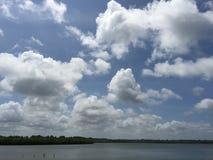 Sky mycket av moln Arkivbild