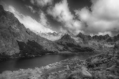Sky, Nature, Black And White, Mountain Royalty Free Stock Photo