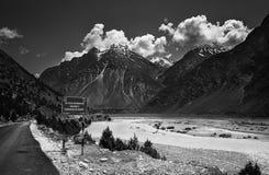 Sky, Nature, Black And White, Mountainous Landforms stock photo