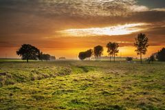 Sky, Nature, Grassland, Field Stock Image