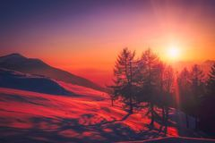 Sky, Nature, Sunrise, Red Sky At Morning Royalty Free Stock Images