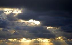 Sky near Nida. Curonian Spit. Lithuania Stock Photography