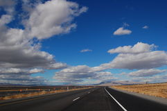 Sky in New Mexico. Highway and sky in New Mexico near Albuquerque Stock Photography