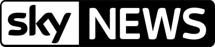 Sky News logo wiadomość ilustracja wektor