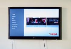 Sky News sullo schermo del LG TV immagine stock libera da diritti