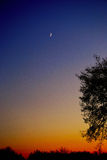 Sky at night. Its a representation of blend of colour at evening time royalty free stock images