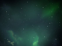 Sky night abstract with green light Royalty Free Stock Photos