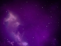 Sky night abstract with purple light aura Stock Images