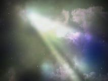 Sky night abstract with warm ray light Stock Photo